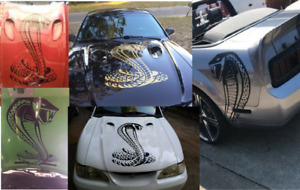 Cobra Hood Decal Large Auto Vinyl Graphic Fits Ford Mustang Car Body 24 V3