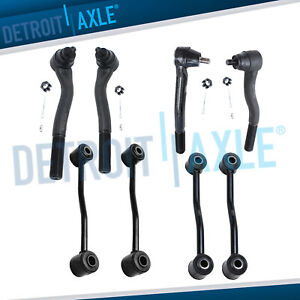 8pc Front Inner Outer Tie Rod Sway Bar Link Kit 1999 2004 Jeep Grand Cherokee