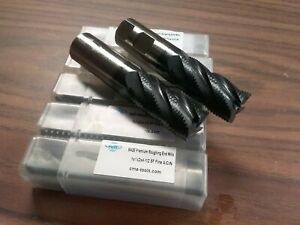 1 M42 Cobalt Roughing End Mills 5pc For 149 00 1002 co 1 Free Ship new
