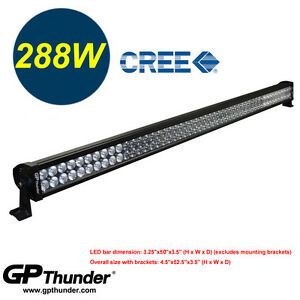 50 Inch 6000k Off Road 288w Cree Led Fog Lamp Work Light Bar Suv Jeep 4wd