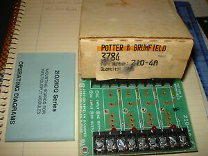 Potter Broomfield 3784 Solid State Relay Board P n 2io 4a Nib