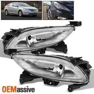 Fits 11 14 Sonata Clear Bumper Fog Lights Lamps W switch bulbs Left right
