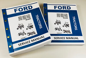 Ford Tractor 2600 3600 4100 4600 5600 6600 6700 7600 7700 Service Repair Manual