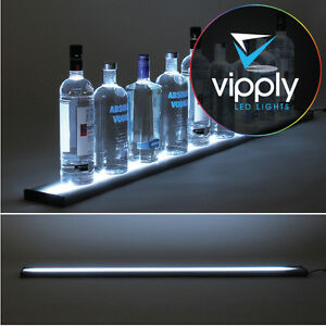 48 Led Lighted Glowing Liquor Bottle Display Shelf Home Back Bar Rack Metal