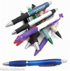 Bulk Wholesale Lot Of 1000 Misprint Imprinted Plastic Retractable Pens