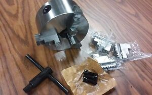 5 3 jaw Self centering Lathe Chucks With Extra Jaws Part 0503f0 New