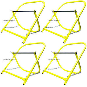 4 Pk Cable Caddy Catv Wire Installer Spool Reel Holder Folding Yellow Sky6005 X4