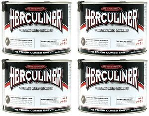 4 Herculiner Hcl1b7 Quart Ready To Use Do It Yourself Roll On Truck Bed Liner
