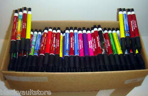 Bulk Lot Of 500 Misprint Plastic Retractable Thick Pens no Clips