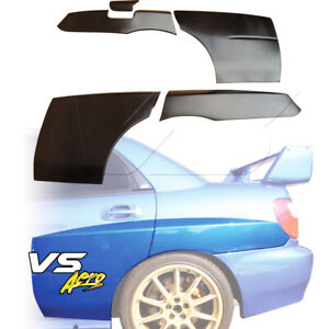 Frp Lspo Wrc Wide Body Tapered Fender Flares rear 5pc 4dr Fits Subaru Imp