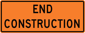 3m Reflective End Construction Street Road Construction Sign 36 X 18