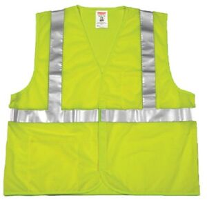 12 Tingley V70622 l xl Large Extra Large Fluorescent Yellow Green Safety Vest