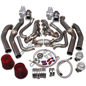 Cx Twin Turbo Manifold Downpipe Kit For G Body Ls1 Ls Grand National Bonneville