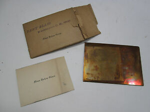 Vintage Brass Or Copper Call Card Printing Plate Miss Helen Ginn