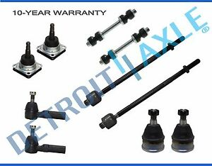 Upper Lower Ball Joint Outer Tierod Sway Bars Chevrolet Camaro Pontiac Firebird