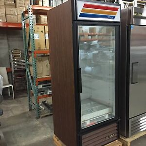 True Gdm 26f Woodgrain 1 Glass Door Deep Freezer Ice Cream Frozen Meals Meat