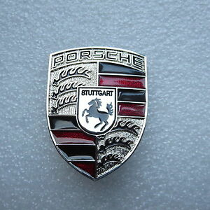 porsche emblem black in stock ready to ship wv classic