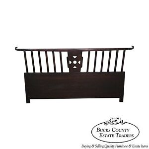 Tommi Parzinger Asian Style Modern Mahogany Queen Size Headboard