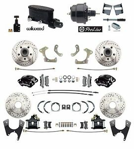 1958 68 Fullsize Chevy Front Rear Wilwood Disc Brake Kit Booster Conversion Kit