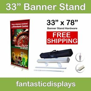 Generic Roll Up Banner Stand For 33 X 79 Trade Show Banners