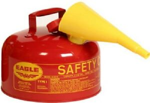 Eagle Mfg Ui 20 fs 2 Gallon Type L Safety Gasoline Can Equipped With F 15 Funnel