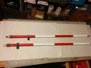 Set Of Two Prism Poles Seco And Sokkia Free Shipping