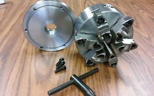 6 6 jaw Self centering Lathe Chuck W Top bottom Jaws W 1 1 2 8 Adapter new