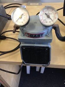 Gast Doa p104 aa Vacuum Pump With 2 Gauges