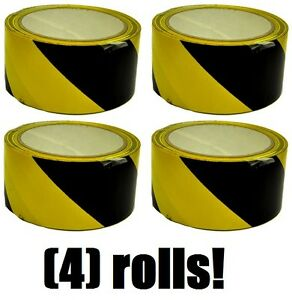 4 Rolls Hanson 15045 2 X 54 Yellow Black Striped Floor Aisle Safety Tape