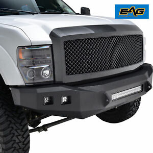 Abs Black Carbon Fiber Look Packaged Mesh Grille W shell 08 10 Ford Super Duty