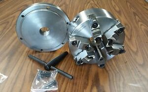 8 6 jaw Self centering Lathe Chuck W Top bottom Jaws W 1 1 2 8 Adapter new