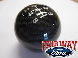 15 Thru 17 Focus St Oem Genuine Ford Parts Carbon Fiber 6 speed Gear Shift Knob