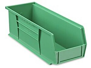 Green Stackable Storage Bin 15 l X 5 1 2 w X 5 h Lot Of 12 s 12418g