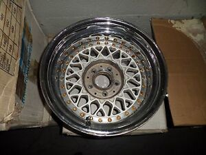Very Rare Bbs Rs203 15x9 5 3 Piece Modular Mercedes Benz Sl Wheel 1 35954