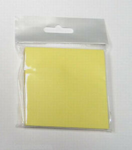 Bulk Lot Of 144 Packs Of 3 X 3 Self stick stickie Yellow Note Pads 100 pk