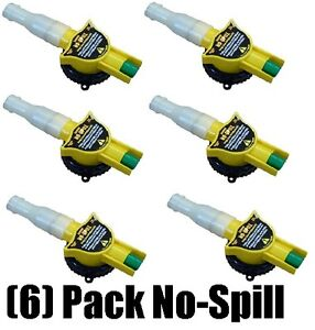 6 Ea No Spill 6131 Replacement Gas Can Nozzle Spouts Fits All No Spill Cans