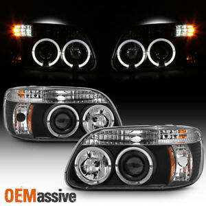Fits 95 01 Explorer Halo Projector Black Headlights W built In Corner Signal