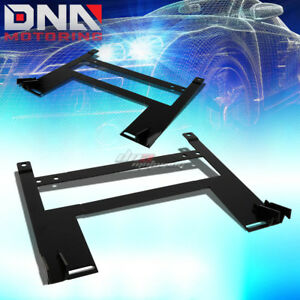 Pair Left right Racing Bucket Seat Down Low Mount Bracket For 05 10 Chevy Cobalt