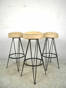 Set Of Mid Century Bar Stools After Frederick Weinberg 0798 Nj