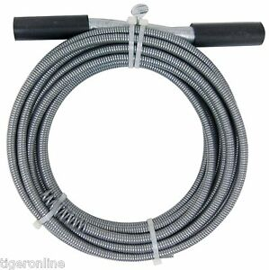 50 ft Drain Auger Cable Cleaner Tool Snake Clog Pipe Plumbing Sewer Cleaning Tub