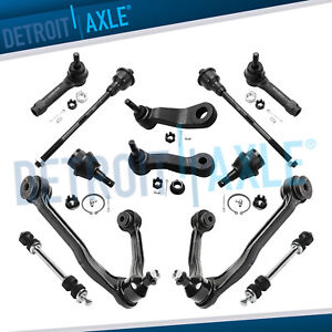 12pc Front Upper Control Arm Tie Rod Ball Joint Pitman Idler Arm 4x4 4wd 6 lug