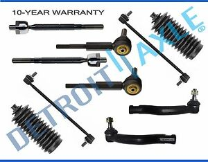New 10pc Front Rear Sway Bar Tie Rod Boot Kit For 2006 2015 Toyota Rav4