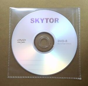 1000 Cd Dvd Cpp Clear Plastic Sleeve With Flap Stitching On Borders 100micron