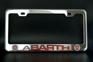 Fiat Abarth License Plate Frame Custom Made Of Chrome Plated Metal