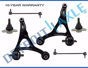 6pc 2003 2014 Volvo Xc90 Front Lower Control Arm Ball Joint Sway Bar Link Kit