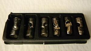 Snap On 3 8 Drive 6 Pc Shallow Metric 6 Pt Universal Socket Set