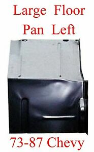 73 87 Large Left Floor Pan W Backing Plate Fits Chevy Gmc Truck Blazer Suburban