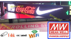 6 3 x42 Led Scrolling Sign Multicolor Programmable Message Display Board Indoor