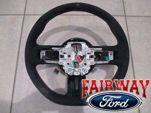 15 Thru 17 Mustang Oem Ford Black Alcantara Suede Steering Wheel Shelby Gt350