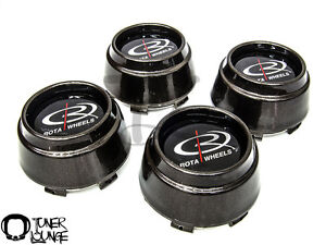 Rota Wheels Center Caps Gun Metal 4pcs Replacement Set P45r P45 Rb